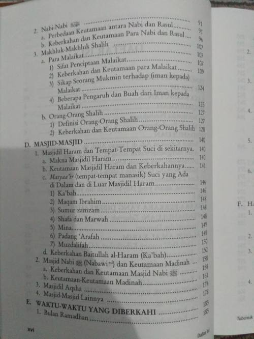 Daftar Isi kitab Tabarruk -2