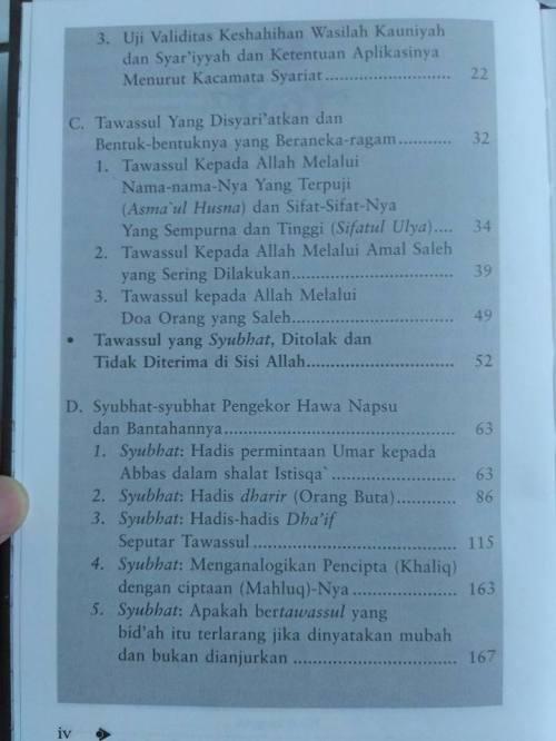 Daftar isi Shohih Tawassul -2