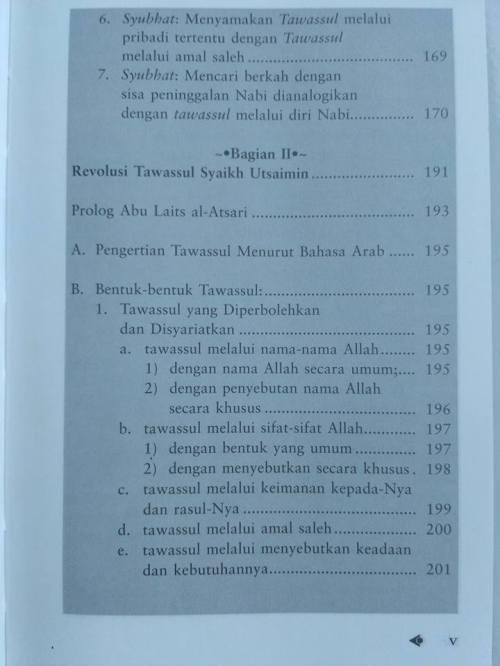 Daftar isi Shohih Tawassul -3
