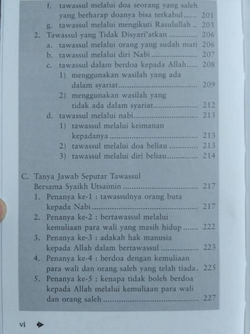 Daftar isi Shohih Tawassul -4