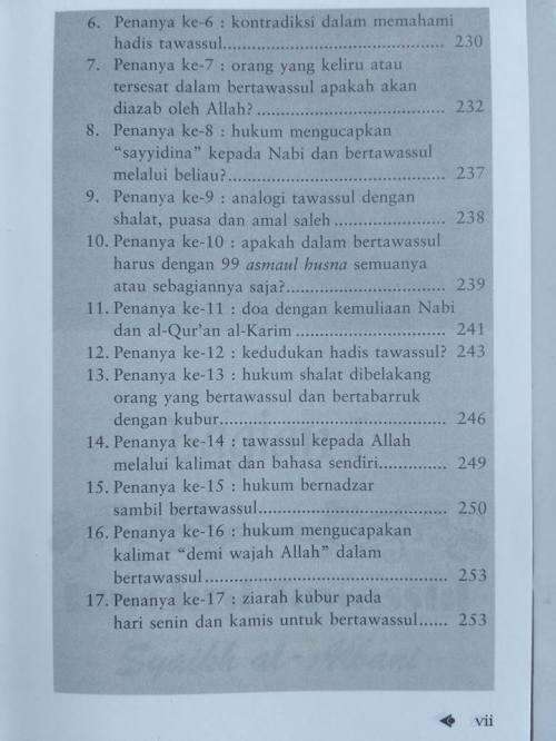 Daftar isi Shohih Tawassul -5