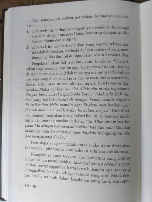 Shahih Tawasul dan Tabaruk -1