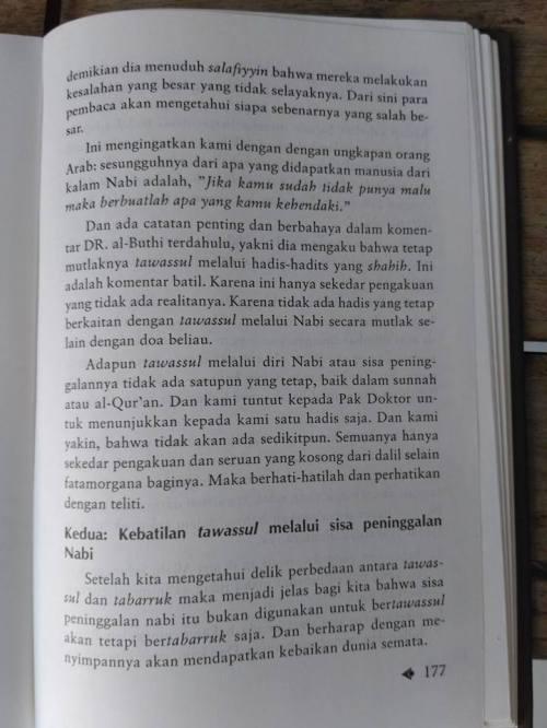 Shahih Tawasul dan Tabaruk -2
